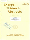 Ebook Energy Research Abstracts Epub N.A Apps Read Mobile