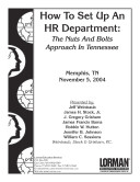 How to Set Up an HR Department