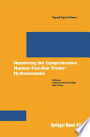 Monitoring The Comprehensive Nuclear Test Ban Treaty Hydroacoustics
