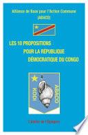 Les 10 propositions pour la R  publique D  mocratique du Congo