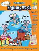 Hooked on Phonics Kindergarten Beginning Words Premium Workbook