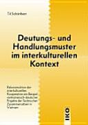 Deutungs- und Handlungsmuster im interkulturellen Kontext