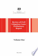 Review of Civil Litigation Costs