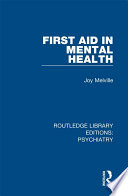 First Aid In Mental Health
