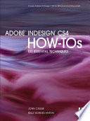 Adobe Indesign Cs4 How Tos