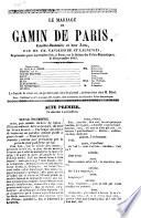 Le mariage du Gamin de Paris