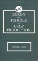 Boron and Its Role in Crop Production