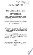 Catalogue de tableaux, dessins, estampes, livres, curiosités chinoises et autres, instrumens de physique et de mathématiques, etc., provenant du cabinet de feu Mr E.-F. Imbard...