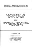 Governmental Accounting And Financial Reporting Standards As Of