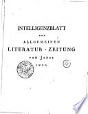 Intelligenzblatt der Allgemeinen Literatur-Zeitung vom Jahre 1800