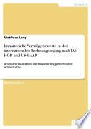 Immaterielle Vermögenswerte in der internationalen Rechnungslegung nach IAS, HGB und US-GAAP
