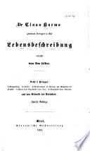 Dr. Claus Harms gewesen Predigers in Kiel