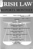Irish Law Reports Monthly