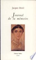 Journal Pour Mémoire par Jacques Borel