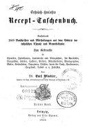 Technisch-chemisches Recept-Taschenbuch