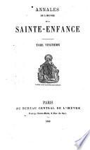 Annales de l'Oeuvre de la Sainte Enfance