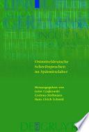 Ostmitteldeutsche Schreibsprachen Im Spatmittelalter