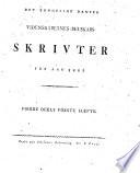 Det Kongelige videnskabernes-selskabs skrivter for aar ...