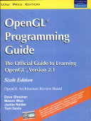 Opengl Programming Guide  The Official Guide To Learning Opengl  Version 2 1  6 E