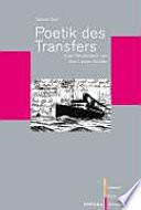 Poetik Des Transfers