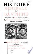 Histoire générale de Dauphiné par Nicolas Chorier