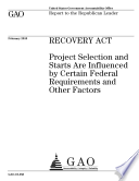 Recovery Act Act Aims To Stimulate The Economy It Provided