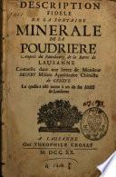Description fidèle de la fontaine minérale de la Poudrière
