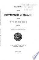 Annual Report of the Department of Health