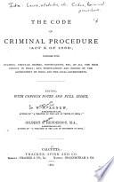 The Code of Criminal Procedure (Act X of 1882)