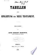 Tabellen zur Einleitung ins Neuen Testament