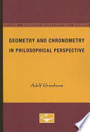 Geometry and Chronometry in Philosophical Perspective