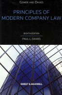 Gower and Davies' Principles of Modern Company Law
