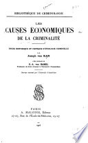 Les causes économiques de la criminalité