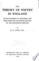The Theory of Poetry in England