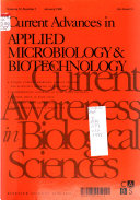 Current Advances in Applied Microbiology   Biotechnology