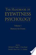 The Handbook of Eyewitness Psychology  Volume I Book PDF