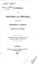 illustration du livre A Journal of Voyages and Travels