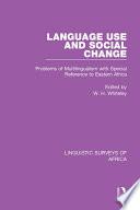 Language Use and Social Change
