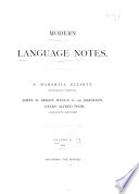 Modern Language Notes