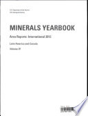 Minerals Yearbook  Volume 3  Area Reports  International Review