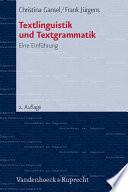 Textlinguistik und Textgrammatik