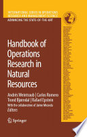 Handbook Of Operations Research In Natural Resources