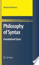Ebook Philosophy of Syntax Epub Mieszko Talasiewicz Apps Read Mobile