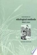 Handbook of Ethological Methods