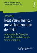 Neue Verrechnungspreisdokumentation der OECD