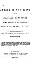 Origin of the Scots and the Scottish Language