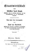 Staatswirthschaft, von Christian Jacob Kraus ...