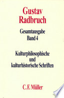 Kulturphilosophische und kulturhistorische Schriften