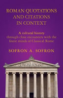 Roman Quotations and Citations in Context