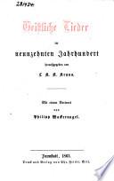 Geistliche Lieder im neunzehnten Jahrhundert